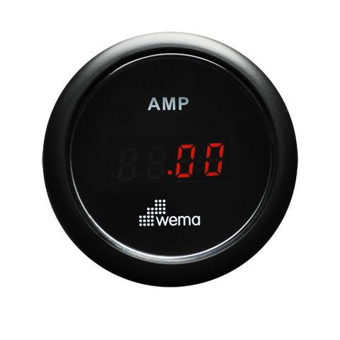 Ammeter kit WEMA digital +/-150A bk/bk