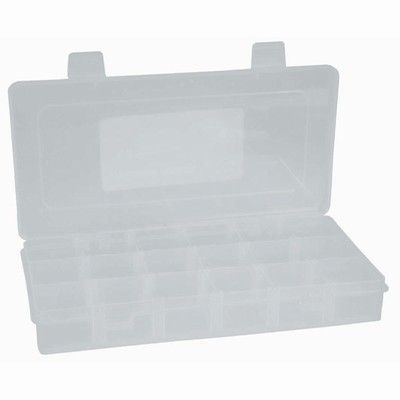 Storage box clear 230x115mm 18 compartmt