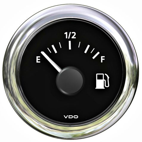 Gauge fuel VLB (tubular) 12/24V