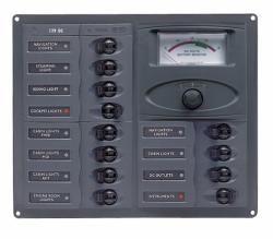 Distr panel DC12 hori anal V meter +