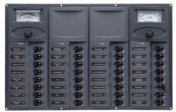Distr panel DC32 hori 2analg meters+