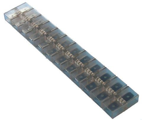 Terminal strip 6.3mm spade x 12