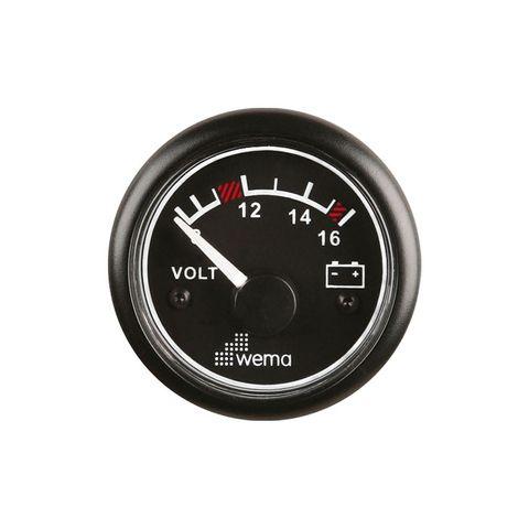 Voltmeter WEMA 8-16V analog bk/bk