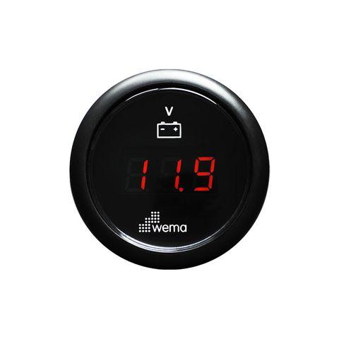 Voltmeter WEMA LED 12/24V bk/bk