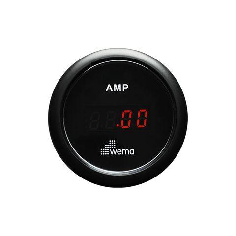 Ammeter kit WEMA digital +/-150A bk/bk