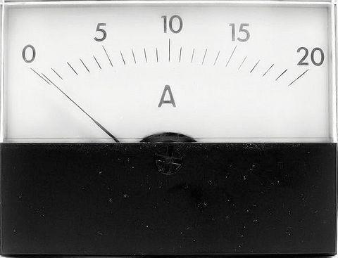 Ammeter DC 005 A 58X76mm +