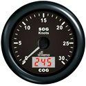 Speedometer WEM GPS d85mm 15kn bk/bk +