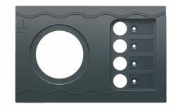 Panel plate BEP CC-2 52 mm hole & 4CB