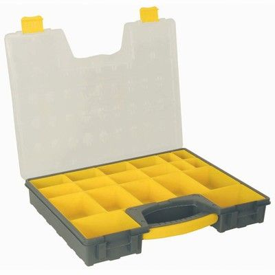 Storage box w handle 420x335mm 19 compmt
