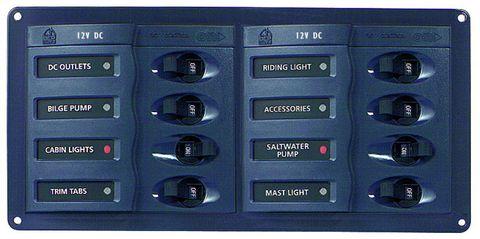 Distr panel DC 901H 08 (2x4)no meter+