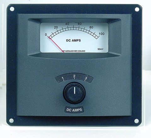 Ammeter panel analog BEP 3x050A only+