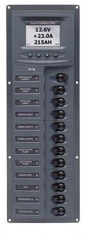 Distr panel DC12 vert anal V meter+