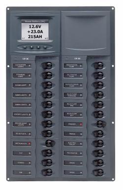 Distr panel DC24 vert digi meter +
