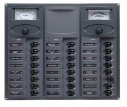 Distr panel DC24 hori 2analg meters+