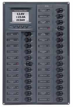 Distr panel DC28 vert digi meter +