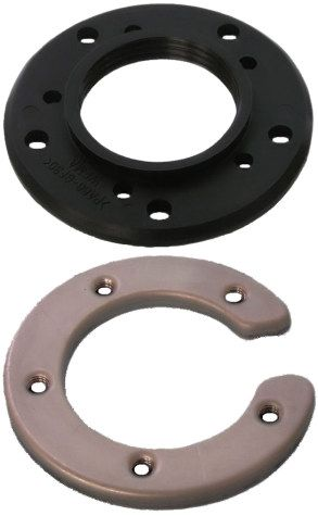 Flanges for  WEMA Fuel/Water Tank Sensors 1 1/4 BSP. Bottom flange fits into hole d60mm cut into tank.Sold as complete kit or top and bottom flanges can be ordered seperately.