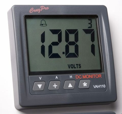 Battery monitor CRUZPRO VAH110 DC Ah/V/A