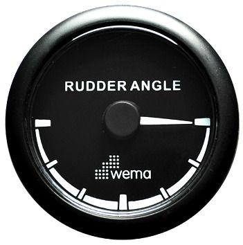Rudder angle indicator WEM d52 12/24V bk