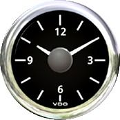 Clock VLB quartz analogue 12V