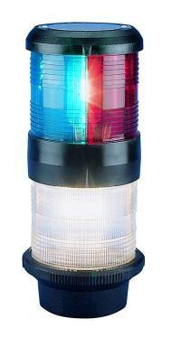 Light nav AQS40 tri/anchr blk quickf12V+