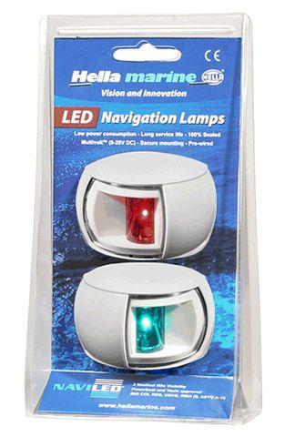 Light nav NaviLED 12/24V 2PAK cl bk .12+