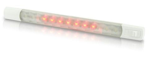 Light LED HEL strip & switch cw 12V+