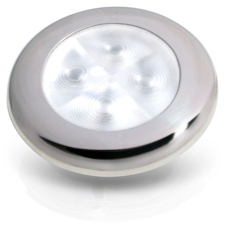 Light LED round 12V red / white rim+