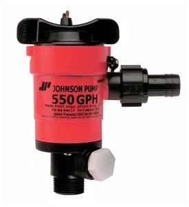Pump livewellaerator JOH550GPH twinp12V+