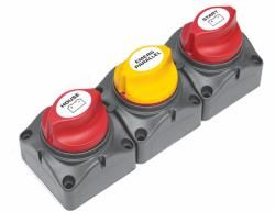 Battery switch cluster 2bank&EP horizntl