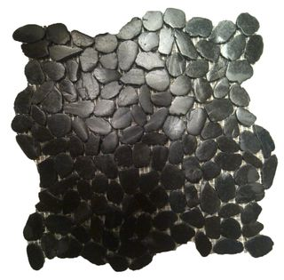 BLACK ALOR MINI SLICED PEBBLES