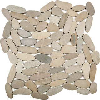 300x300 Tan SLICED Pebbles