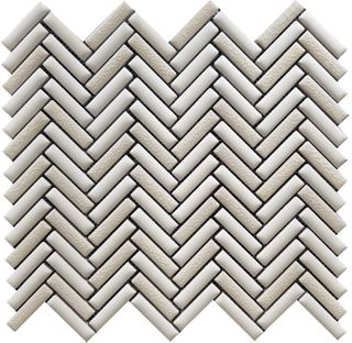MINI HERRINGBONE, MIX WHITE