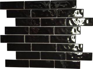 35x110 UPTOWN, BLACK, GLOSS
