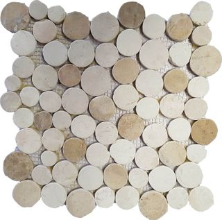 CREAM / YELLOW MIX - COIN PEBBLES