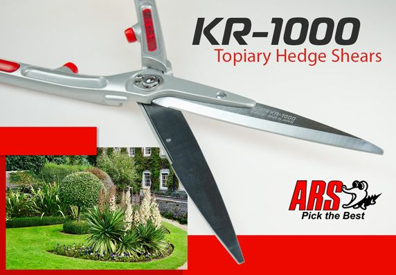 ARS KR-1000 Topiary Hedge Shears - Pick the Best - Made in Japan