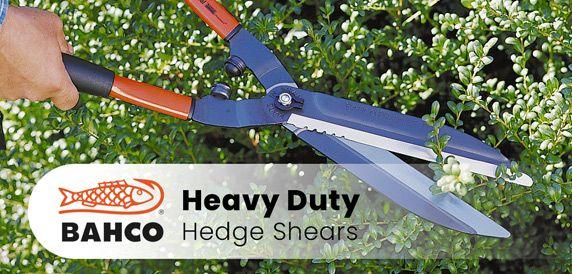 BAHCO Heavy Duty Hedge Shears - Avail in Short, Long & Telescopic Handles