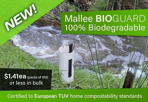 Just arrived: our new BIOGuard is made from 100% Biodegradable stock - Packs of 150 Guards - Click to order
