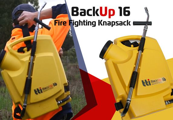 BackUp16 Knapsack Sprayer by TTi with Dual-action Hand Pump