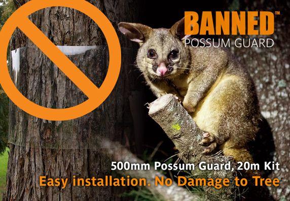 Possum Guard 500mm x 20m Kit. Easy installation - No Damage to Tree.