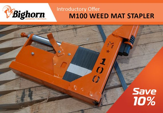 NEW - Bighorn M100 Weed Mat Stapler - Save 10% in March 2021