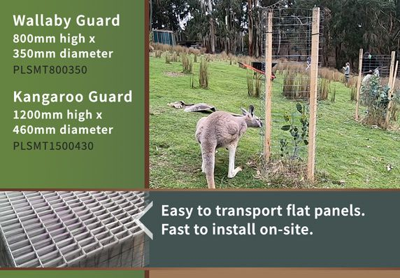 Mallee Mesh Wallaby & Kangaroo Guards - Easy to transport, simple to install.