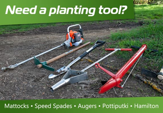 Need a planting tool? See our range including Hamilton and Pottiputki tree planters.