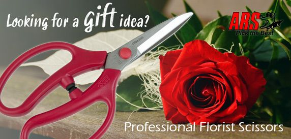 Looking for a gift idea? Professional Florist Scissors by ARS Japan.