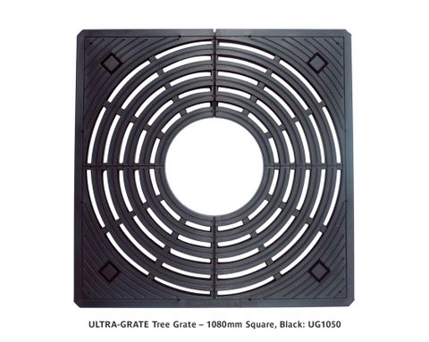 ULTRA-GRATE Tree Grate – 1080mm Square, Black