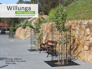 Willunga 1,600mm Steel Mesh Treeguard, Powdercoated Black