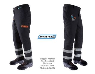 Clogger ArcMax Fire Resistant Chainsaw Trousers Small, 83-89cm
