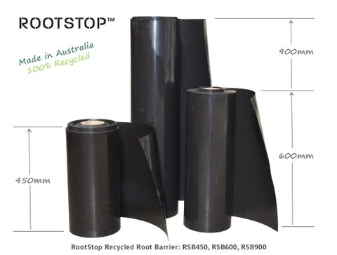 RootStop Recycled Root Barrier 450mm Deep x 30m Roll