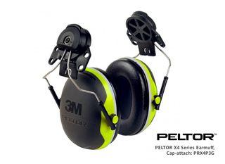 PELTOR X4 Series Earmuff, Cap-attach