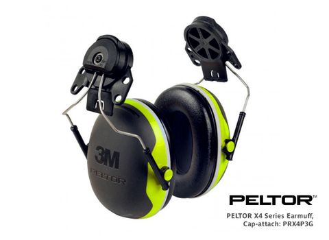 PELTOR X4 Series Earmuff, Cap-attach