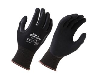 Black Knight Nitrile Coated Gloves, Size 8 - Medium (was: PRGS370M)